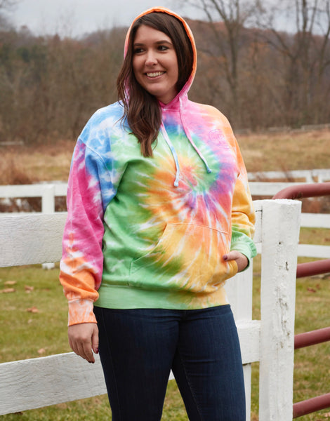 ETERNITY TIE DYE, ADULT HOODIE - Puppie Love