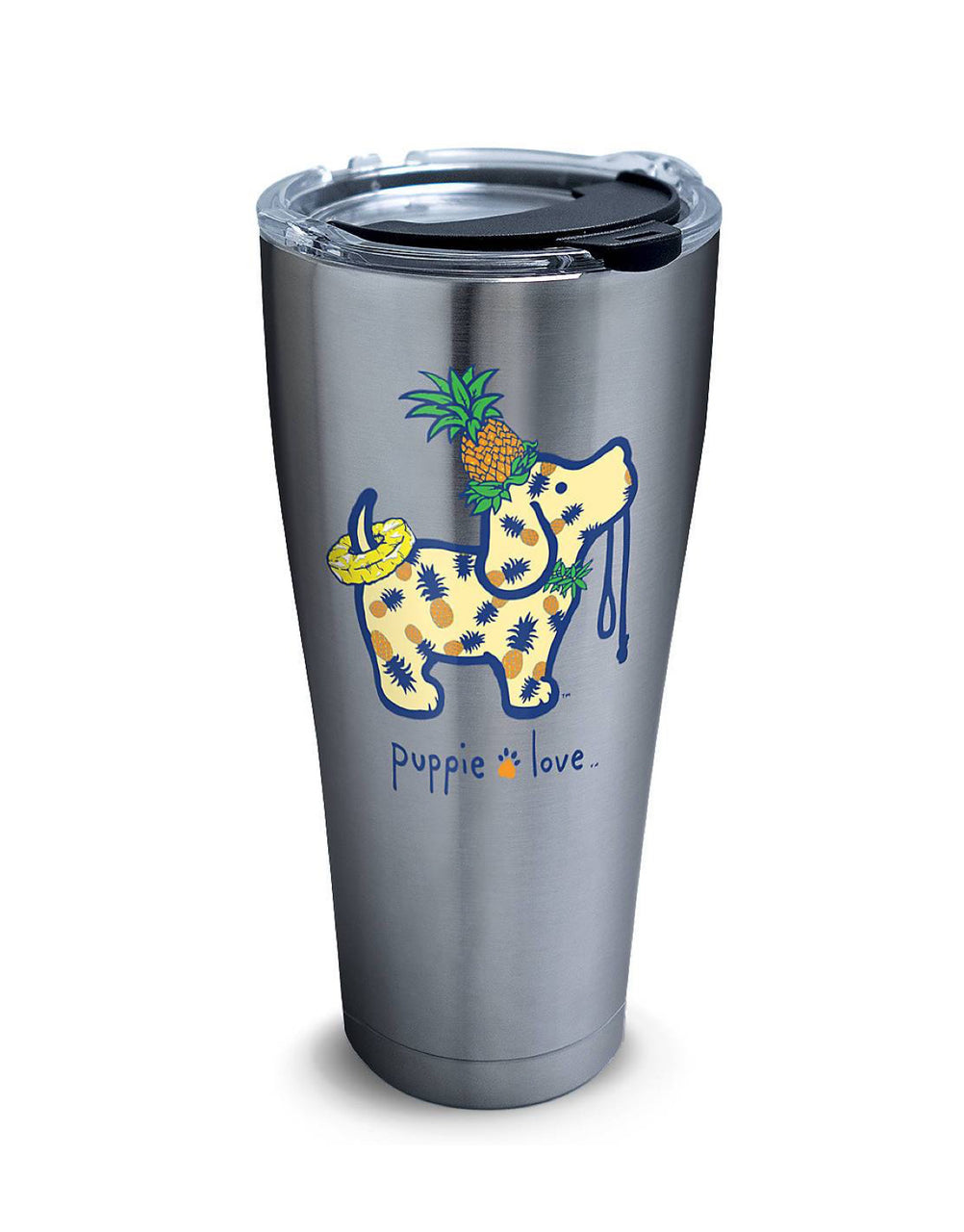 PINEAPPLE PUP 30oz STAINLESS STEEL TUMBLER - Puppie Love