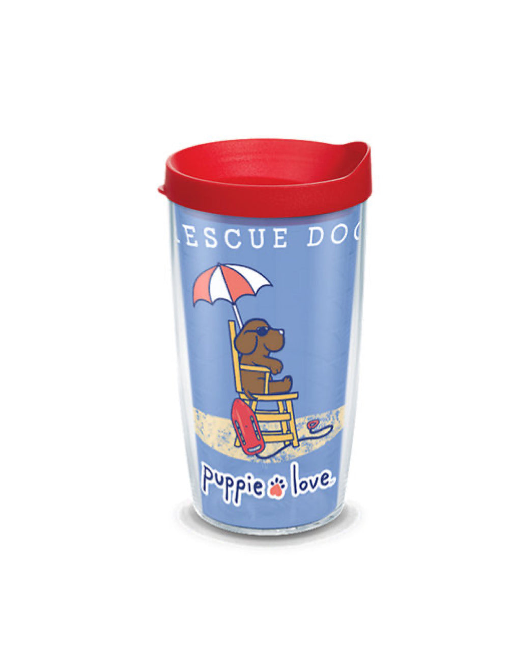RESCUE PUP 16oz TUMBLER - Puppie Love