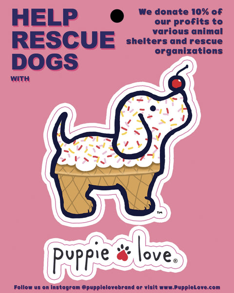 ICE CREAM PUP DECAL - Puppie Love