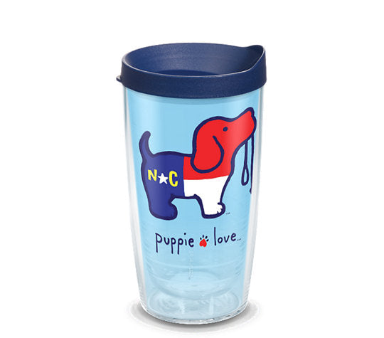 NORTH CAROLINA PUP 16 OZ TUMBLER - Puppie Love