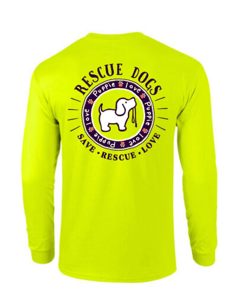 RESCUE DOG LOGO, ADULT LS - Puppie Love