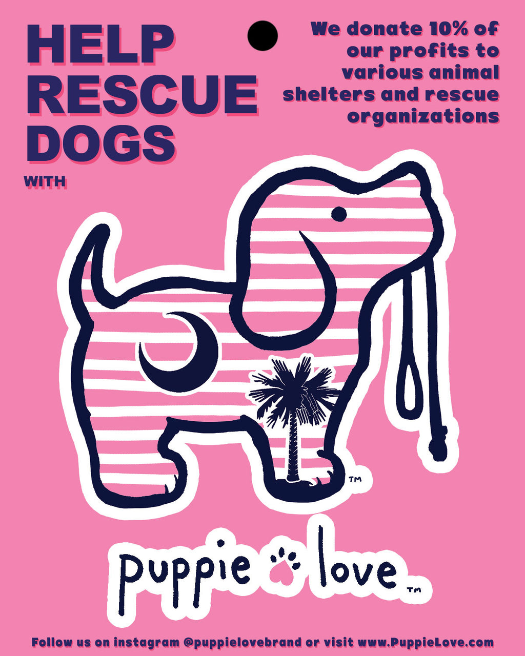 PALMETTO PUP STICKER - Puppie Love