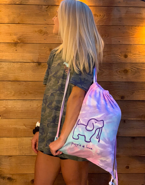 TIE DYE SPORTS BAG, COTTON CANDY - Puppie Love