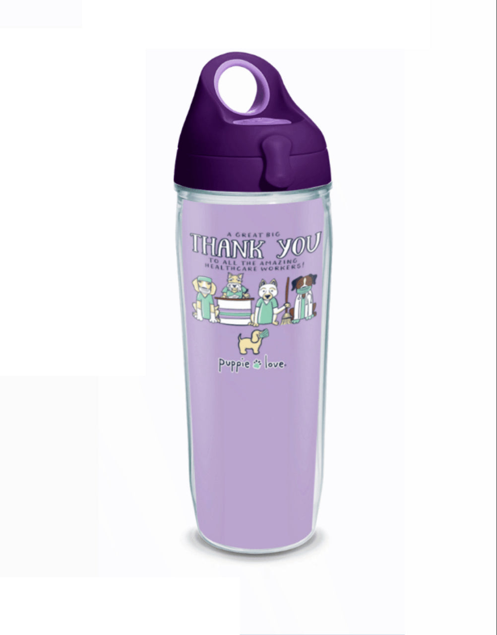 HEALTHCARE 24oz WATER BOTTLE - Puppie Love