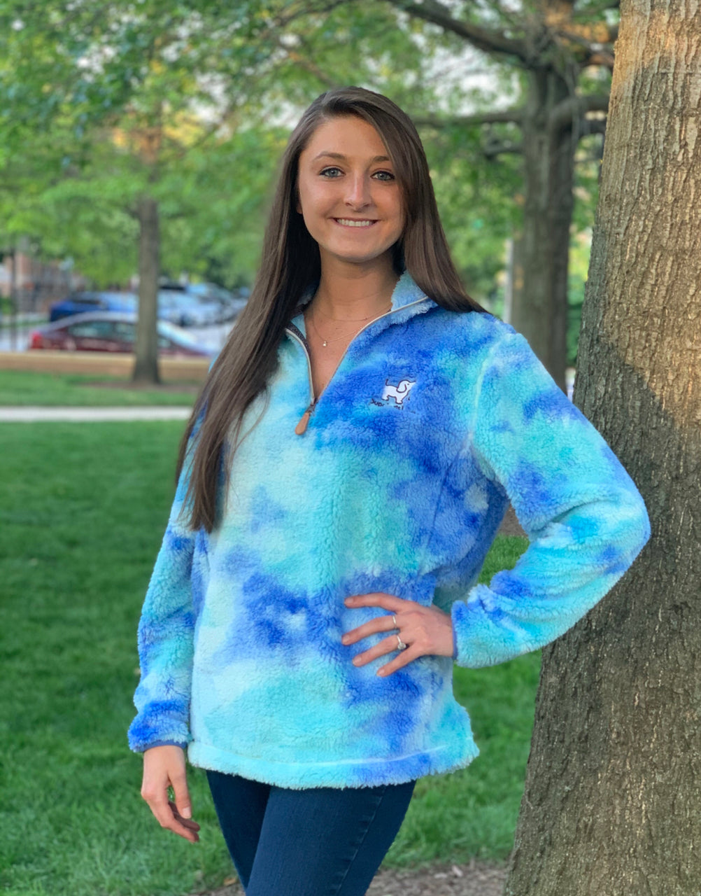 BLUE TIE DYE FLEECE - Puppie Love