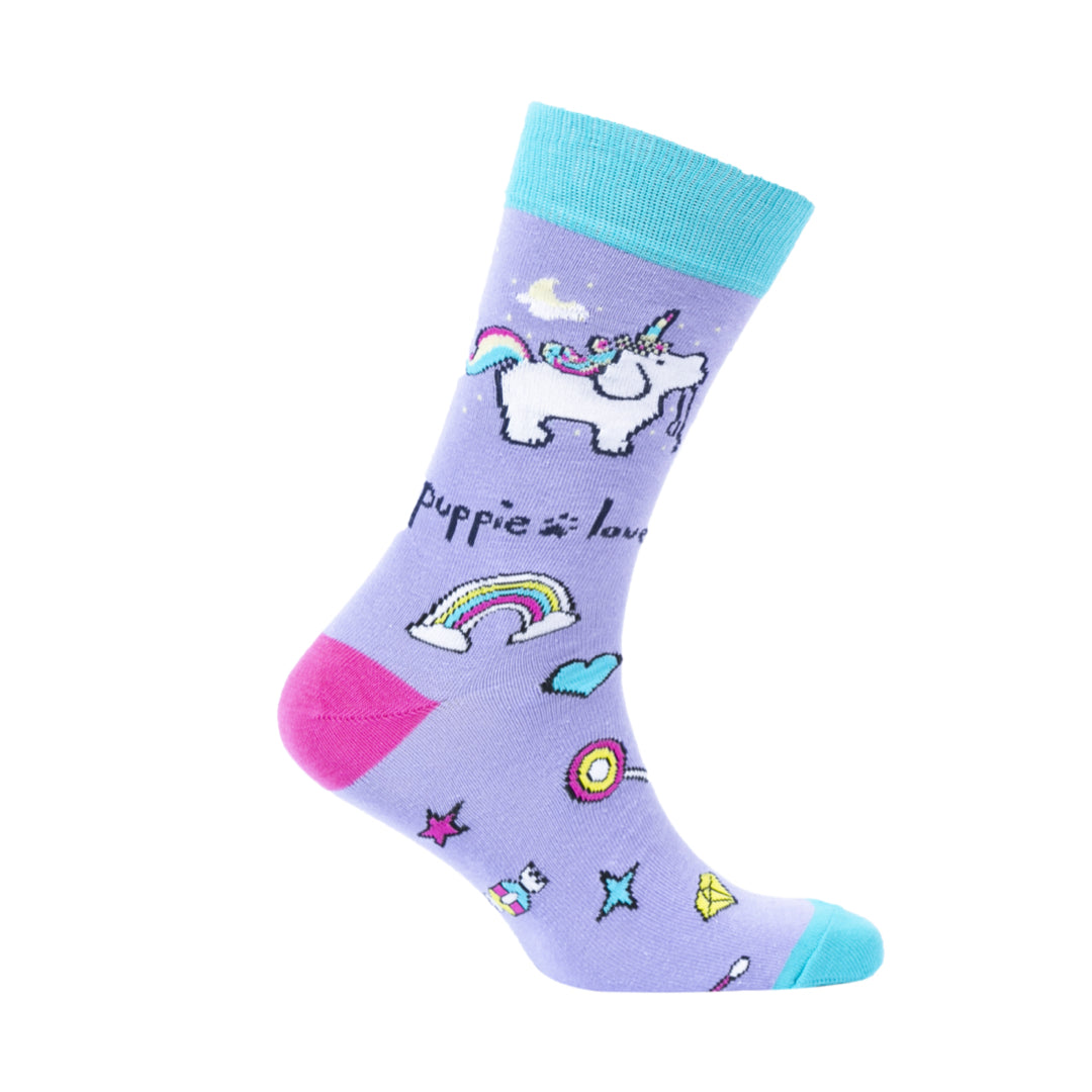 YOUTH CREW SOCK, UNICORN PUP - Puppie Love