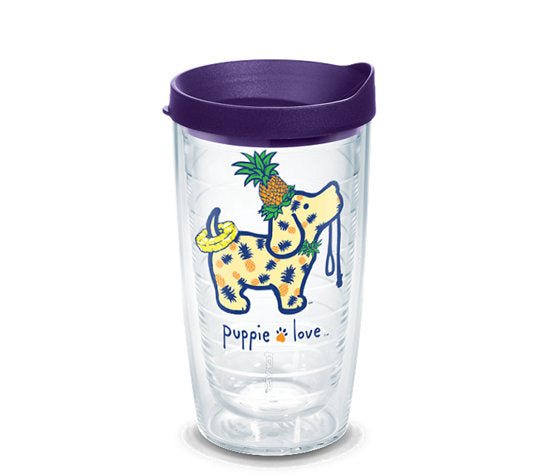PINEAPPLE PUP 16oz TUMBLER - Puppie Love