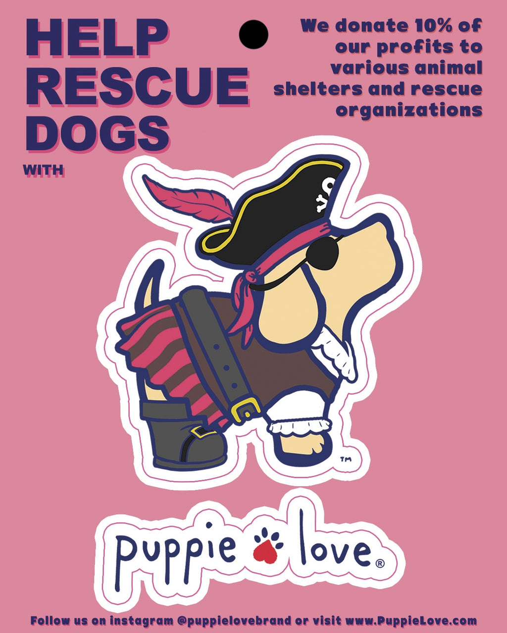 PIRATE DECAL - Puppie Love