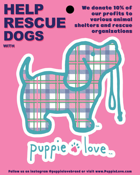 PLAID PUP STICKER - Puppie Love