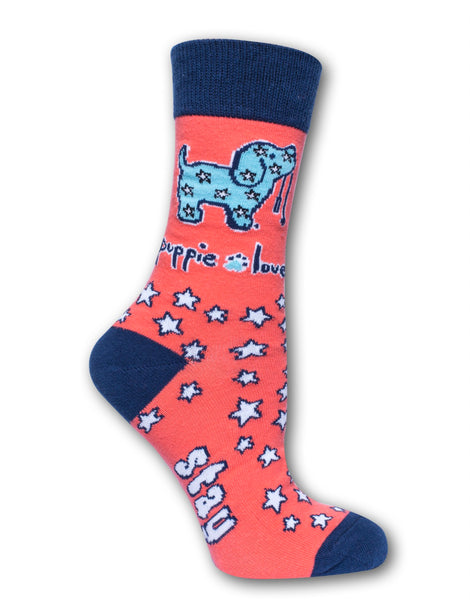 ADULT CREW SOCK, STAY PAWSITIVE PUP