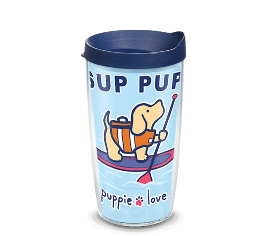 SUP PUP 16oz TUMBLER - Puppie Love