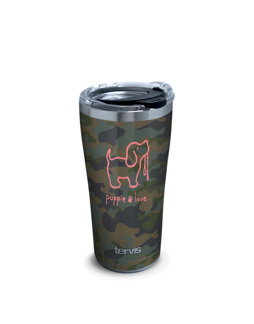 CAMO PUP 20oz STAINLESS STEEL TUMBLER - Puppie Love