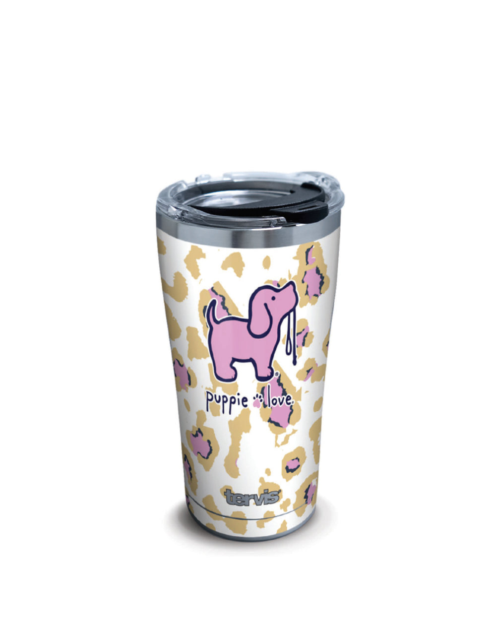 LEOPARD PUP 20oz STAINLESS STEEL TUMBLER - Puppie Love