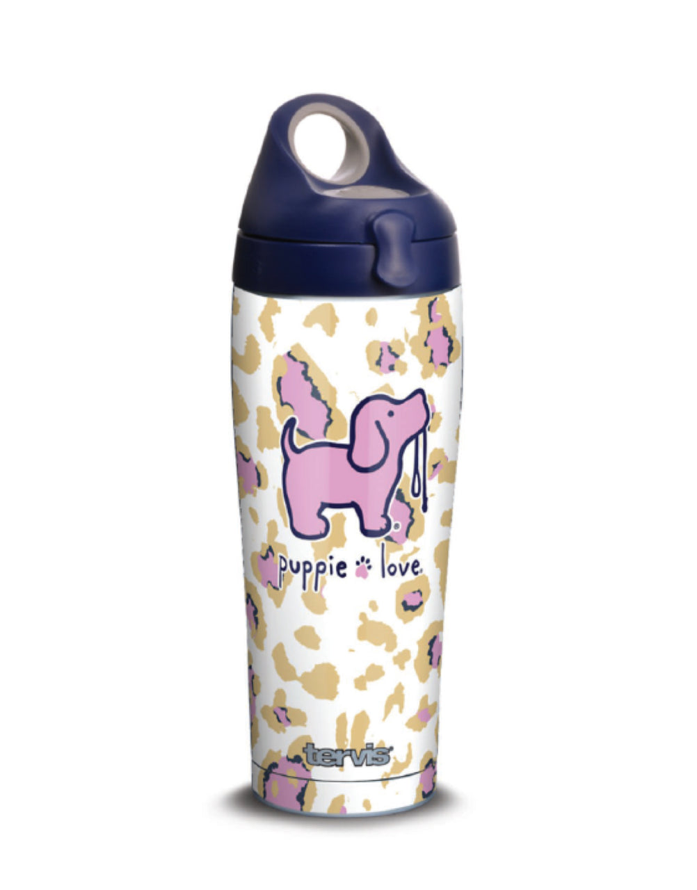 LEOPARD PUP 24oz STAINLESS STEEL WATER BOTTLE - Puppie Love