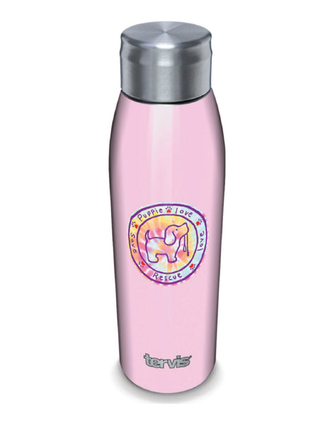 PINK TIE DYE 17oz STAINLESS STEEL WATER BOTTLE - Puppie Love