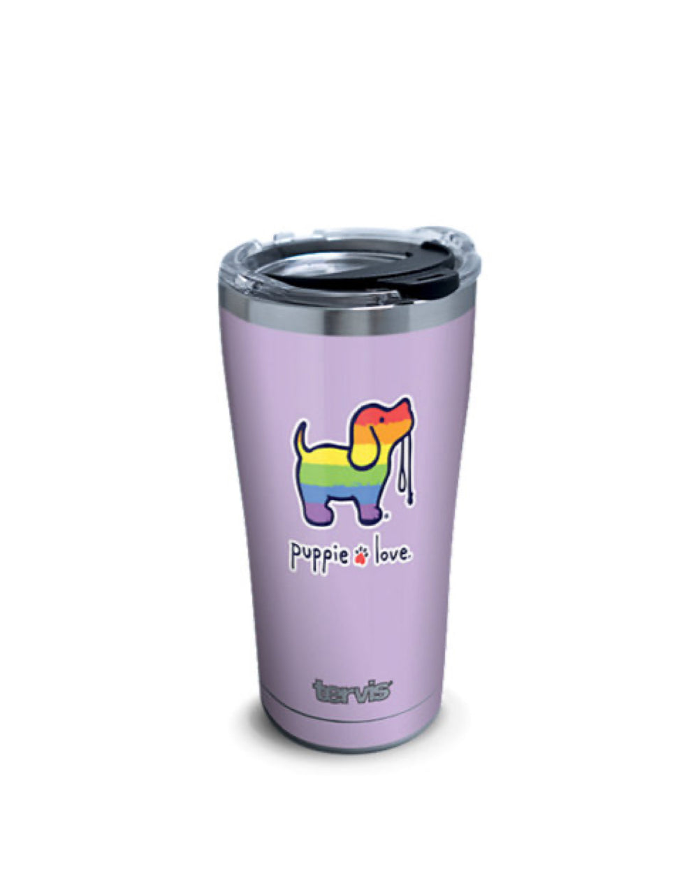 RAINBOW PUP 20oz STAINLESS STEEL TUMBLER - Puppie Love