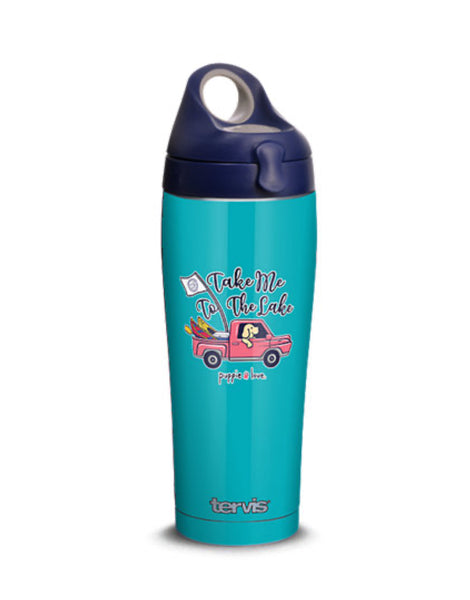 TAKE ME TO THE LAKE 24oz STAINLESS STEEL WATER BOTTLE - Puppie Love