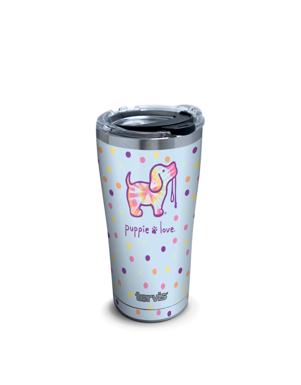 TIE DYE DOT 20oz STAINLESS STEEL TUMBLER - Puppie Love