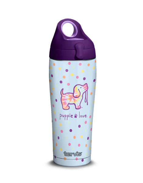 TIE DYE DOT 24oz STAINLESS STEEL WATER BOTTLE - Puppie Love