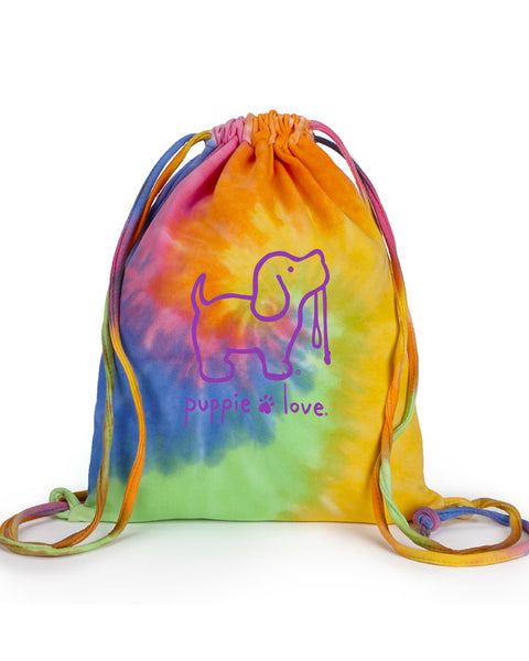 Tie Dye Fleece Bag - Puppie Love