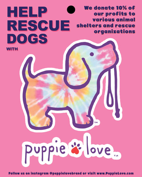 TIE DYE #2 PUP STICKER - Puppie Love