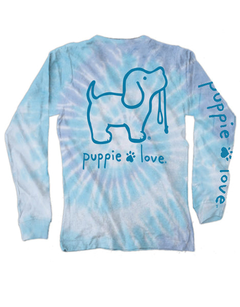 TIE DYE #4 PUP, ADULT LS - Puppie Love
