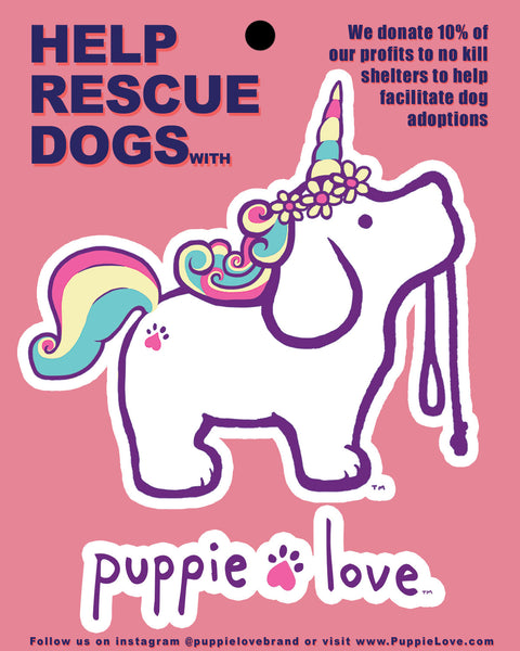 UNICORN PUP STICKER - Puppie Love