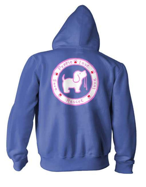 LOGO HOODIE, HEATHER ROYAL - Puppie Love