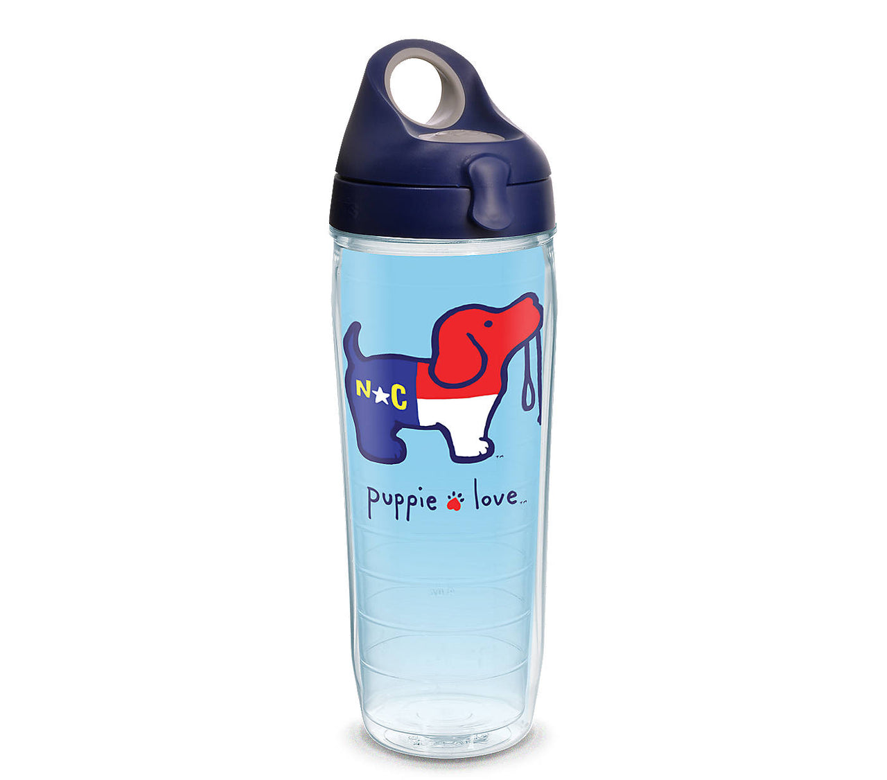 NORTH CAROLINA PUP WATER BOTTLE - Puppie Love