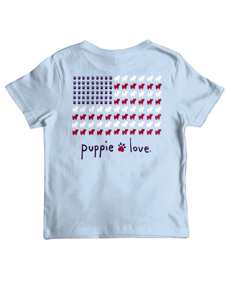 PUPPIE USA FLAG, YOUTH SS - Puppie Love