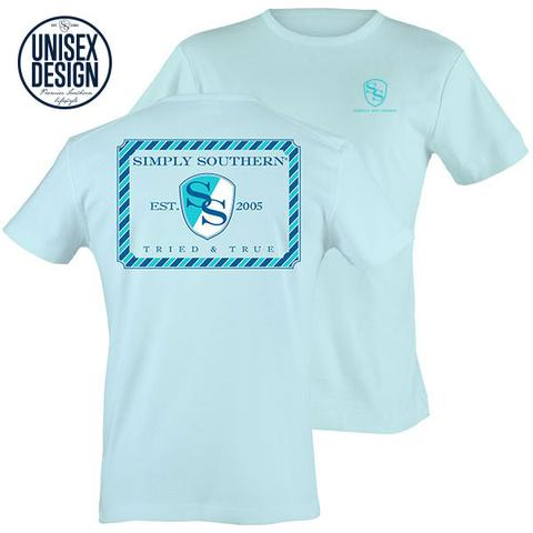 Baby Blue Short Sleeve Tee Shirt - Simply Southern