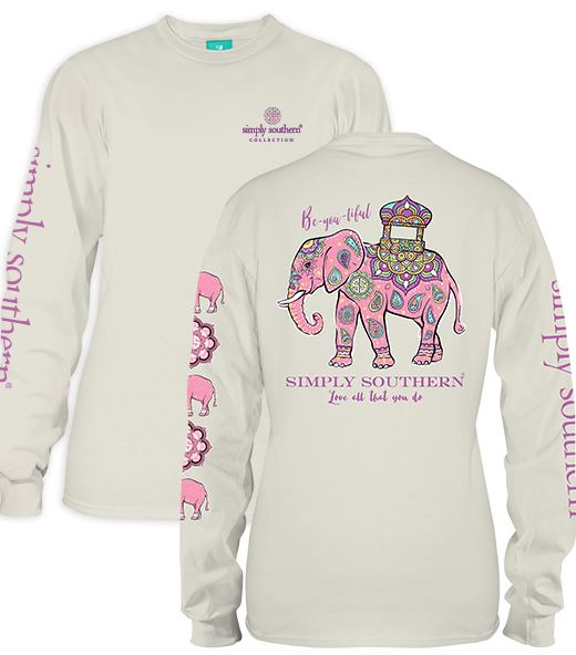 Beautiful Elephant Longsleeve - Simply Southern