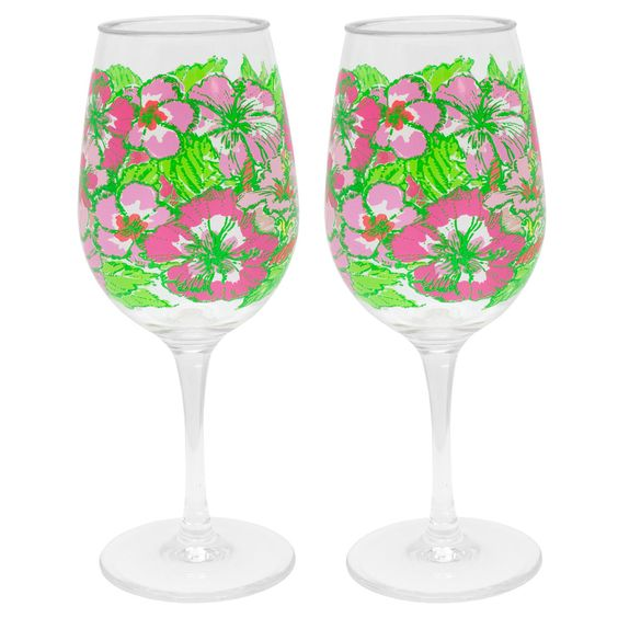 Acrylic Wine Glasses - Lilly Pulitzer