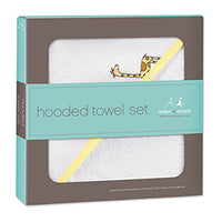 Aden + Anais - Hooded Towel + Washcloth Set - Jungle Jam https://babystuff.co.nz/products/aden-anais-hooded-towel-washcloth-set-jungle-jam Little heads stay warm and dry with the aden + anais hooded towel and washcloth set. The 100% cotton muslin washcloth is gentle against baby's skin and the soft cotton terry hooded towel makes this set a bath time essential.