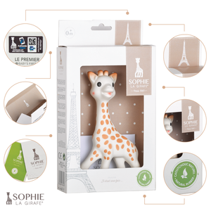 Sophie la Girafe - Gift Box https://babystuff.co.nz/products/sophie-la-girafe-gift-box Sophie the Giraffe is a 100% natural teething toy produced by Vulli toys that is loved by children worldwide. Born in France in 1961, Sophie the Giraffe has been part of babies' lives for 50 years. Each Sophie the Giraffe made today, still requires a total of 14 manual operations. Sophie the Giraffe is made of 100% nat...