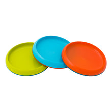 Boon Plate https://babystuff.co.nz/products/boon-plate GREAT FOR FOOD. GREAT FOR DIPS. GREAT FOR SANITY. Three color set Unique edgeless design 4 divided sections Slip-resistant base Top rack dishwasher-safe BPA-free, Phthalate-free and PVC-free Recommended age: 9+ months