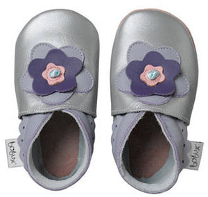 Bobux - soft sole - Silver Layered Flower