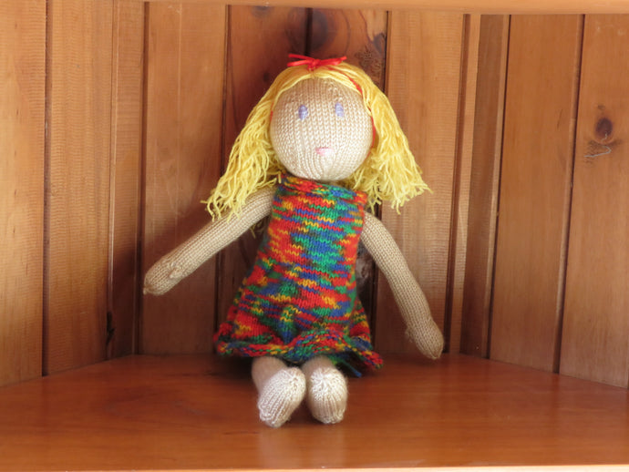 Made in the Mist - Madeline - Knitted Doll https://babystuff.co.nz/products/made-in-the-mist---madeline---knitted-doll 'Madeline' is a happy, bright country girl who is always excited to tag along and join in the fun.