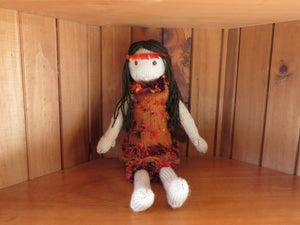 Made in the Mist - Knitted 'Sally' Doll - Candy https://babystuff.co.nz/products/made-in-the-mist-knitted-sally-doll-candy 'Candy' is a charming and peaceful doll, who has an unknown and exotic heritage. A quiet and constant companion, who is a skilled listener. All Sally dolls are, as much as possible, made from materials sourced from garage sales, donated by friends and thrift stores. Each doll is a one off creation. The dress and pantie...