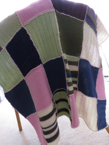 Made in the Mist - Knitted Pram or Bassinet Blanket https://babystuff.co.nz/products/made-in-the-mist-knitted-pram-or-bassinet-blanket This patchwork blanket was a project started by someone and sold in pieces at their garage sale. Being a project freak and knit-aholic, I simply couldn't stand to see all that work go to waste. Here is the finished result. A gorgeous patchwork pram, bassinet or feeding chair blanket. The blanket measures approximately...