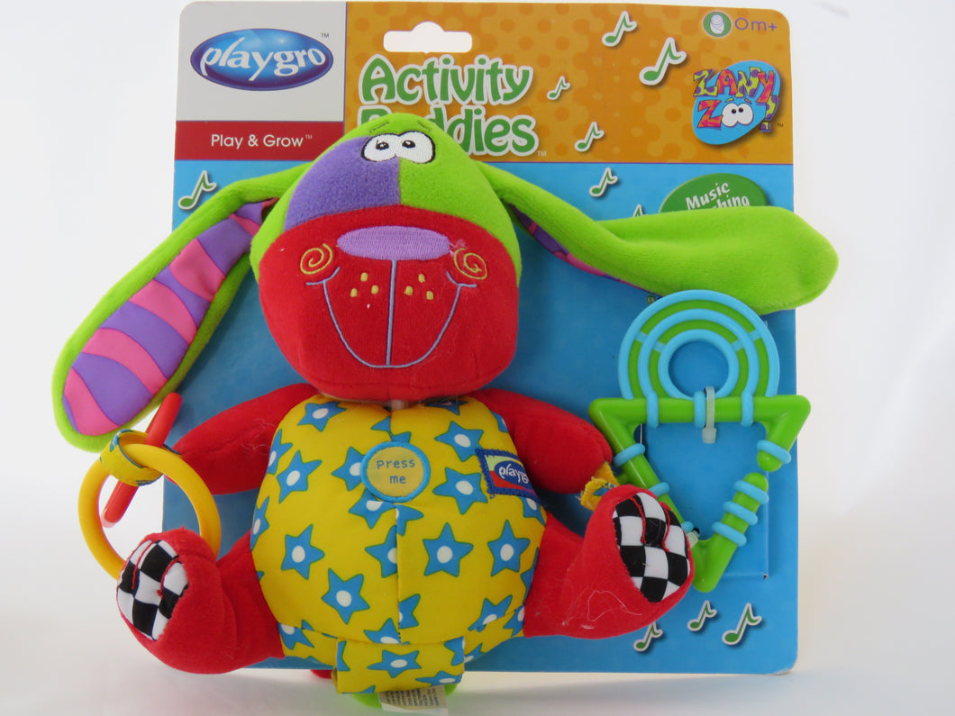 Playgro - Activity Buddy - Puppy https://babystuff.co.nz/products/playgro---activity-buddy---puppy This little guy was found in the bottom of the cupboard, his little lights and music don't work all the time, but he is still cute and at this price - how can y... Sales channels Manage Available on 4 of 4  Online Store  Facebook Mobile App Aftership store connector Organization Product type  toys Vendor  www.bab Collections There are no collections available to add this product to. You can add a new collectio