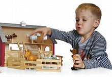 andZee - Farm Play Centre https://babystuff.co.nz/products/andzee-farm-play-centre The andZee Farm Play Center features a complete farmhouse barn with stables and six farmyard animals. There's even an attic where the animals can be housed! The set comes with cute farm animals with moveable legs and outside fences so that the animals don't escape. The andZee Farm Play Center is constructed from renewa...