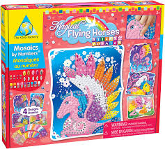 The Orb Factory - Magical Flying Horses Sticky Mosaics https://babystuff.co.nz/products/the-orb-factory---magical-flying-horses-sticky-mosaics Peel, stick and follow the numbers to add colour and sparkle to these beautiful horses then nuzzle, snuggle and soar with your new magical friends Sales channels Manage Available on 4 of 4  Online Store  Facebook Mobile App Aftership store connector Organization Product type  toys Vendor  www.babystuff.co.nz Collections There are no collections available to add this
