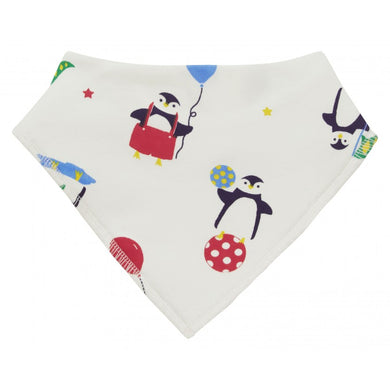 piccalilly - penguin - dribble bib https://babystuff.co.nz/products/piccalilly-penguin-dribble-bib This cute baby bandana bib is designed with dribbling babies in mind. Featuring a gender neutral playful penguin print, perfect for a baby's first Christmas. Available in One Size - fits up to 2-3 years approximately. Backed with terry towelling for extra protection. Chemical free organic cotton is kinder to wear on de...