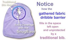 Snug Ease - Bib https://babystuff.co.nz/products/snug-ease-bib The award winning bib which protects as the neck where other bibs gap!