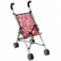 Bayer Chic - 2-in-1 Dolls Stroller - Raspberry Swirl
