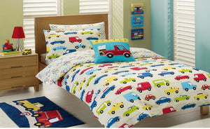 Jiggle & Giggle - Traffic Jam Quilt Cover