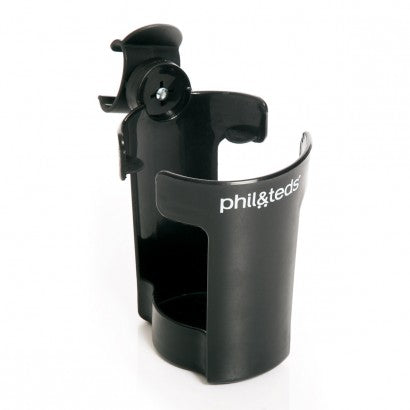 phil&teds - Cup & Bottle Holder https://babystuff.co.nz/products/phil&teds---cup-&-bottle-holder Suck & go! Stroller-mounted bottle holder for your thirsty passenger. This handy cup & bottle holder fits the phil&teds buggy models: vibe/verve/pro...
