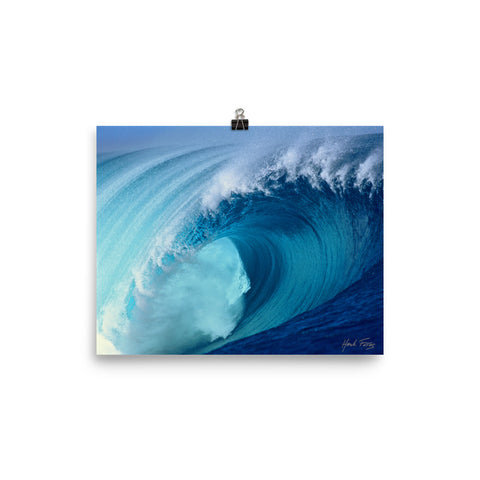 Pacific Blues Photo paper poster